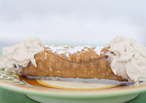 Cannoli made with fresh, sweet ricotta filling
